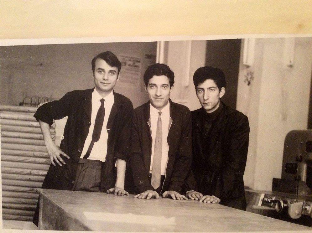 Gino con due suoi colleghi… manager ante litteram